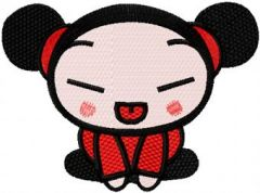 Pucca Joker embroidery design