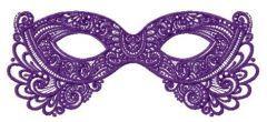 Purple mask embroidery design