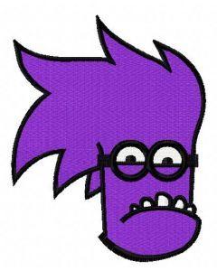 Purple Minion 8 embroidery design