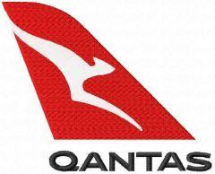 Qantas logo embroidery design