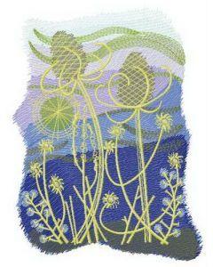 Quiet night embroidery design