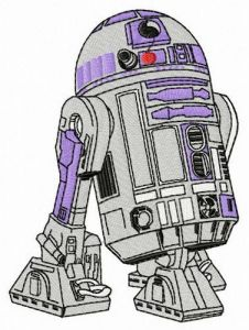 R2-D2 embroidery design