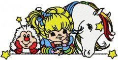 Rainbow Brite, OJ and Starlite embroidery design