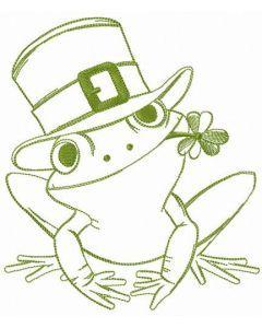 Rainforest rocket frog embroidery design