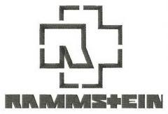 Rammstein alternative logo embroidery design