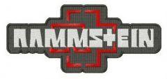 Rammstein logo embroidery design