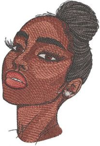Real beauty embroidery design
