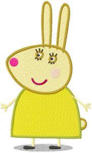 Rebecca Rabbit embroidery design