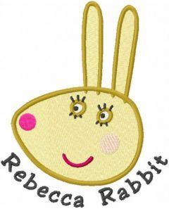 Rebecca Rabbit head embroidery design