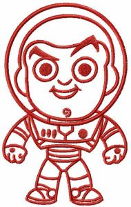 Red chibi Buzz embroidery design