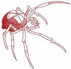 Red spider embroidery design