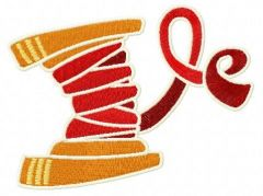 Red threads embroidery design
