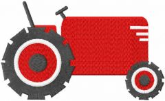 Red tractor free embroidery design
