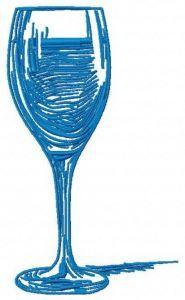 Red wine machine embroidery design