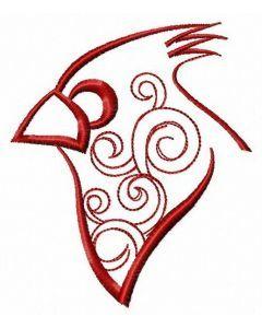 Redbird embroidery design