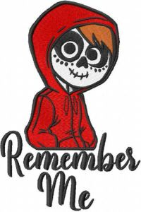 Remember me Miguel embroidery design