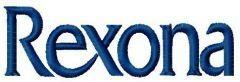 Rexona logo embroidery design