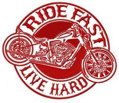 Ride fast. Live hard 2 embroidery design