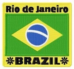 Rio de Janeiro Brazil embroidery design