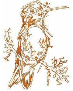 Robin sketch embroidery design