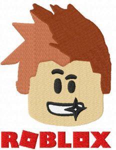 Video Gamer head embroidery design