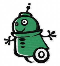 Robot 10 embroidery design