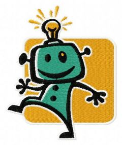 Robot 4 embroidery design