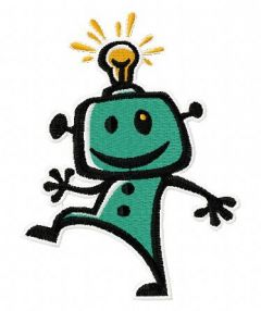 Robot 5 embroidery design