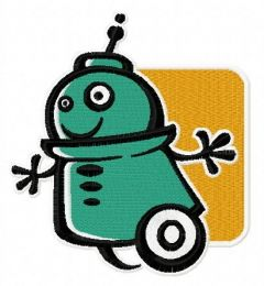 Robot 9 embroidery design