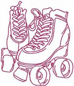 Rollers embroidery design