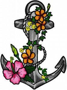 Romance at sea embroidery design