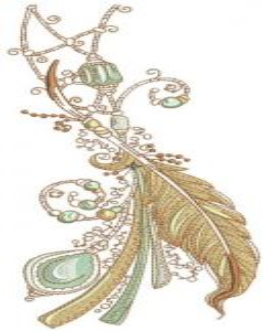 Romantic composition embroidery design
