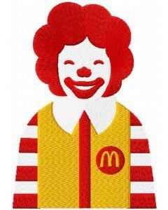 Ronald McDonald embroidery design