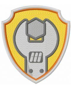 Rubble logo embroidery design