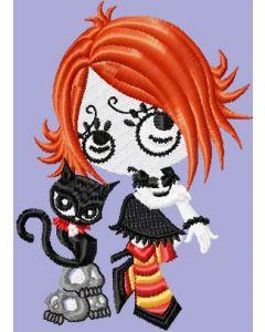 Ruby Gloom Halloween embroidery design