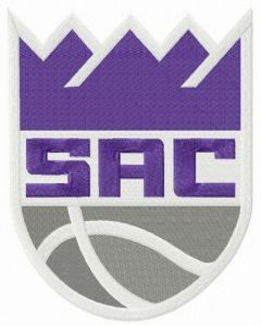 Sacramento Kings alternative logo embroidery design