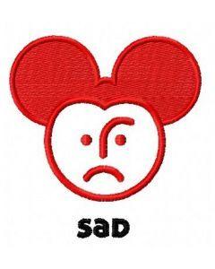 Sad Mickey embroidery design