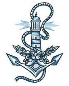 Sailor's dreams embroidery design