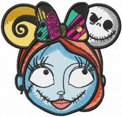 Sally mickey mouse ears embroidery design