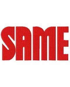 Same Trattori wordmark logo embroidery design