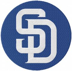 San Diego Padres classic logo embroidery design