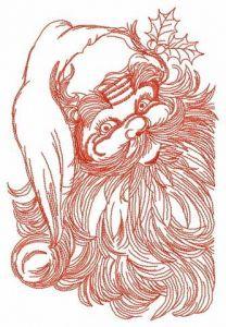 Santa Claus 3 embroidery design