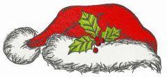 Santa hat embroidery design