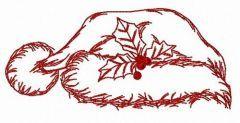 Santa hat simple free embroidery design