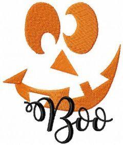 Scary Pumpkin boo embroidery design
