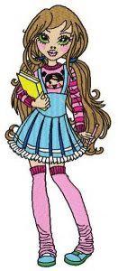 Schoolgirl 2 embroidery design