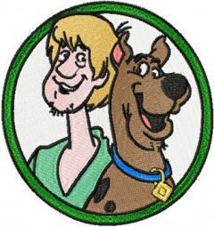 Scooby Doo and Fred embroidery design