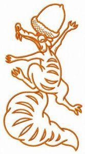 Scrat climbing embroidery design