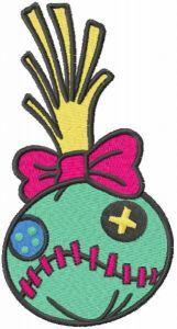 Scrump head embroidery design