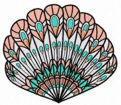 Sea shell embroidery design 11